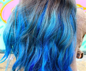 hair, blue, and brown image