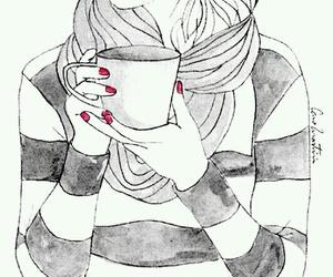 amor, cafe, and labios rojos image