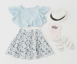 outfit, fashion, and blue image