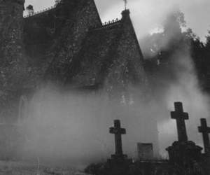 cross, church, and graveyard image