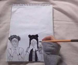 grunge, draw, and art image