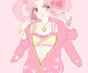 sailor moon, chibiusa, and pink image