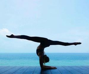 girl and yoga image