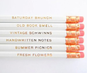 pencil, quotes, and white image
