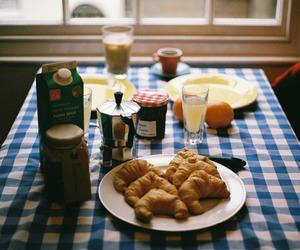 breakfast, food, and vintage image