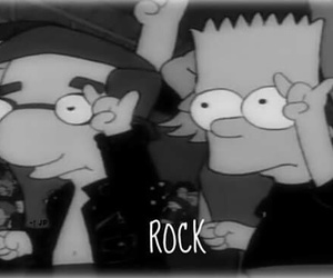 black&white, rock, and simpson image
