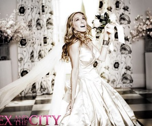sex and the city, dress, and wedding image
