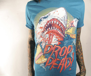 tattoo, drop dead, and boy image