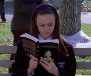books, gilmore girls, and sylvia plath image