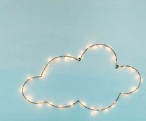 cloud, heart, and pastel image