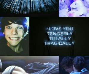 blue, Collage, and louis image