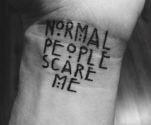 black & white, tattoo, and american horror story image