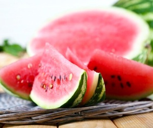 food, watermelon, and love image