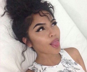 pretty, curly bun, and eyebrow goals image