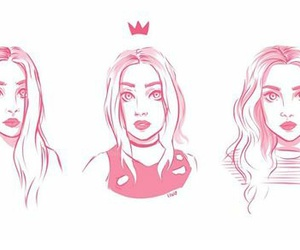 little mix, drawing, and art image