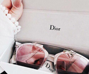 dior, sunglasses, and pink image