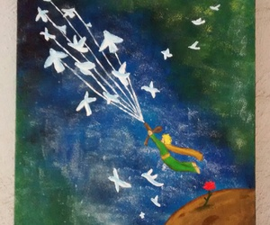 le petit prince, painting, and tela image