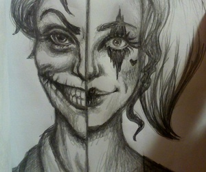 art, drawing, and harley quinn image