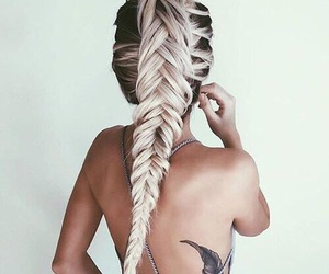 blonde, ombre, and braid image