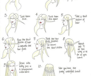 hair, braid, and waterfall image
