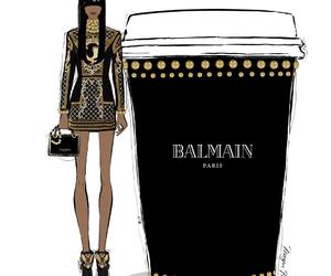 Balmain, black, and coffee image
