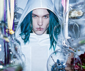 blue, blue hair, and male model image