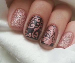 nails, rose, and beautiful image