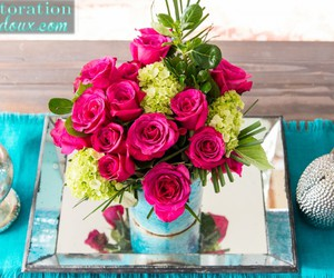 flowers, vases, and spring centerpiece image