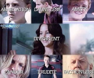 divergent, the hunger games, and factions image
