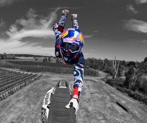 blue and motocross image
