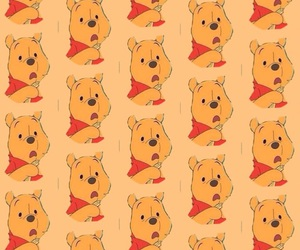 background, iphone, and pooh image