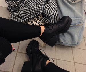 black, shoes, and grunge image