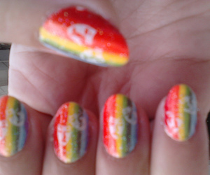 carnaval, colored, and nail art image