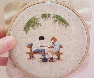 embroidery, handmade, and cheese in the trap image