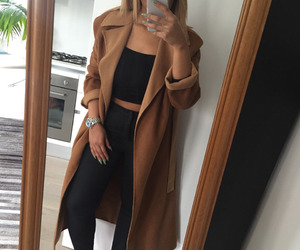 fashion, girl, and coat image