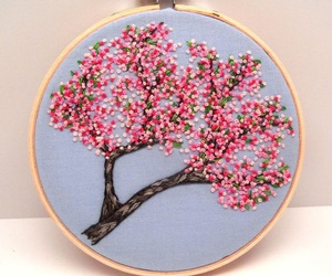 embroidery, handmade, and tree image