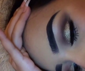 eyebrows, eyes, and glitter image