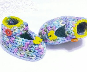babyshoes, crochetshoes, and shoesforbaby image