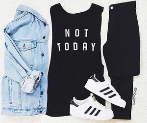 fashion, outfit, and adidas image
