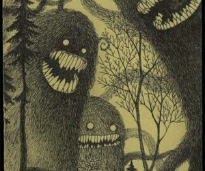 monster, tree, and drawing image