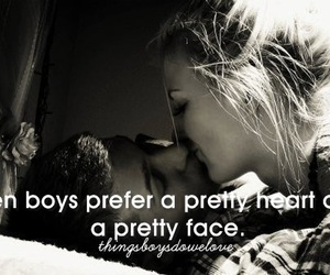 love, boy, and kiss image