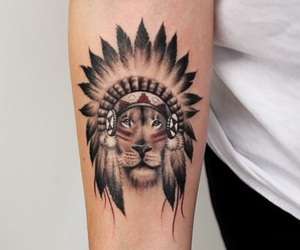 lion, tattos, and león image