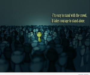 courage, alone, and quote image