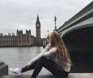 london, girl, and hair image