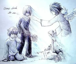 near, death note, and L image