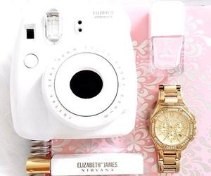 pink, polaroid, and girl image