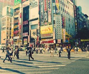 city, people, and japan image