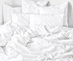 white, bed, and home image