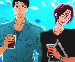 rin, sousuke, and free! image