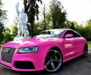 audi, pink, and car image